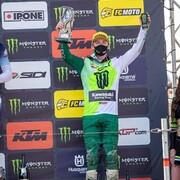 🟢 Ça démarre la saison avec du champagne sur les lunettes @progrip !  Bravo à @romainfebvre pour ce podium sur le premier @mxgp de la saison.   #motocross